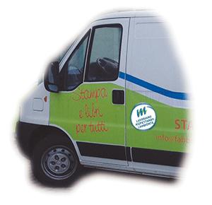 Il furgone a metano